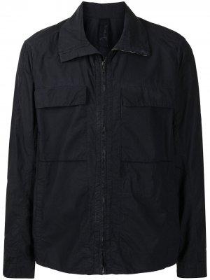 Легкая куртка на молнии Transit. Цвет: синий