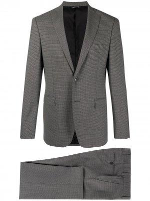 Однобортный пиджак в клетку Tonello. Цвет: серый