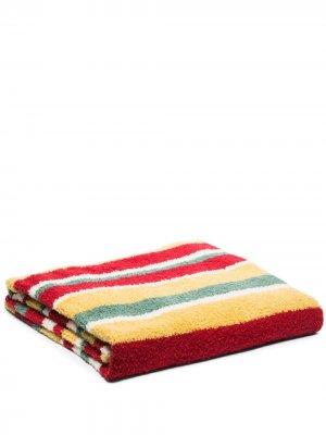 Одеяло Teddy в полоску The Elder Statesman. Цвет: красный