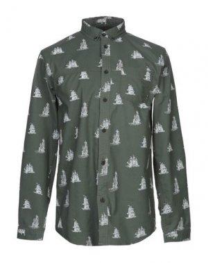 Pубашка ANERKJENDT. Цвет: темно-зеленый