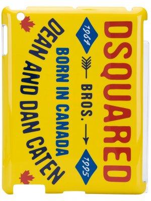 Чехол для iPad с логотипом Dsquared2. Цвет: желтый