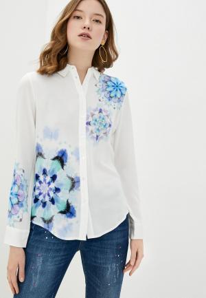 Рубашка Desigual. Цвет: белый