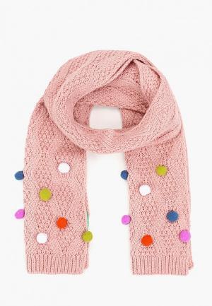 Шарф United Colors of Benetton. Цвет: розовый