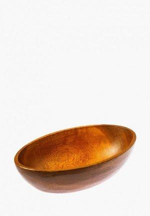 Салатник Oriental way 23*15 см. Цвет: коричневый