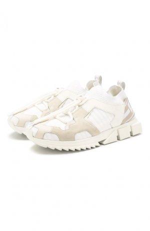 Комбинированные кроссовки Sorrento trekking Dolce & Gabbana. Цвет: белый