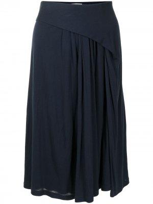 Юбка с драпировкой Balenciaga Pre-Owned. Цвет: синий
