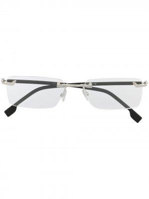 Солнцезащитные очки в безободковой оправе BOSS. Цвет: черный