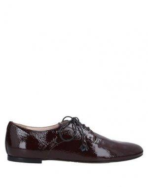 Обувь на шнурках BALLY. Цвет: красно-коричневый