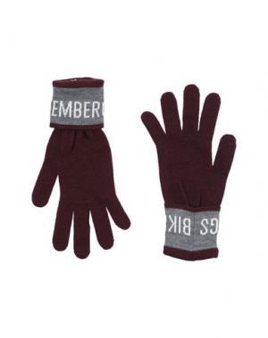 Перчатки BIKKEMBERGS. Цвет: баклажанный