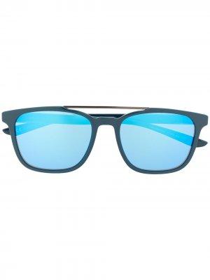 Солнцезащитные очки Windfall в квадратной оправе Nike. Цвет: синий