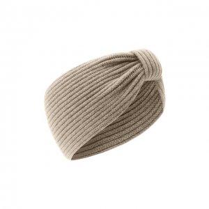 Кашемировая повязка на голову Inverni. Цвет: бежевый