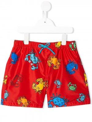 Плавки-шорты с принтом Crab Dolce & Gabbana Kids. Цвет: красный