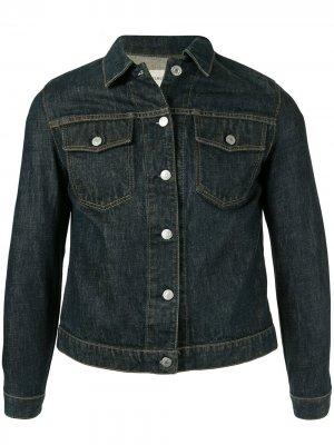 Джинсовая куртка 1999-го года Helmut Lang Pre-Owned. Цвет: синий