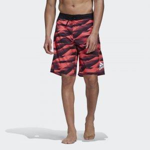 Пляжные шорты с принтом Performance adidas. Цвет: розовый
