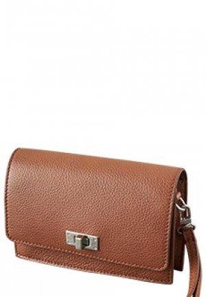 Поясная сумка PESERICO. Цвет: коричневый