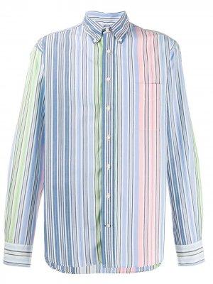 Рубашка Rayas в полоску Gitman Vintage. Цвет: синий