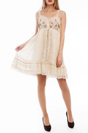 Платье GADO. Цвет: бежевый