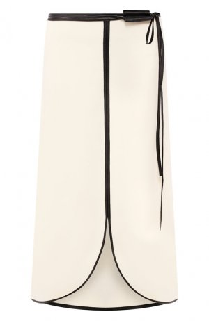 Юбка-миди Victoria Beckham. Цвет: кремовый