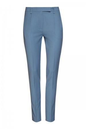 Зауженные брюки средней посадки VASSA&Co. Цвет: голубой