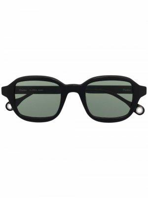 Солнцезащитные очки Studio в квадратной оправе Etudes. Цвет: черный