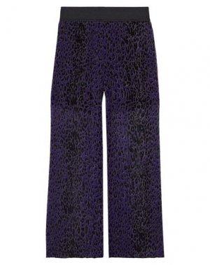 Повседневные брюки ANNA SUI. Цвет: темно-фиолетовый