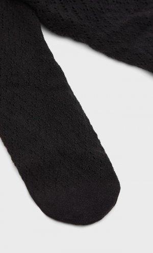 Колготки Геометрической Формы Черный 103 Stradivarius. Цвет: черный