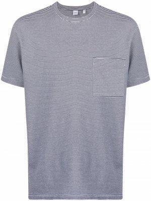 Полосатая футболка с круглым вырезом Aspesi. Цвет: белый