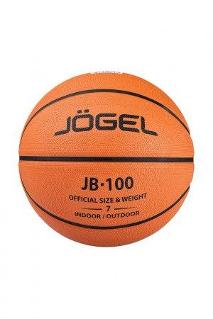 Мяч баскетбольный JB-100 №7 Jogel. Цвет: коричневый, черный
