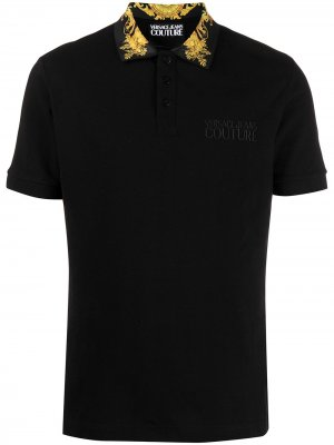 Рубашка поло с принтом Barocco Versace Jeans Couture. Цвет: черный
