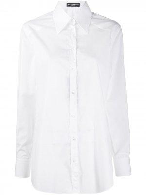 Pointed collar buttoned shirt Dolce & Gabbana. Цвет: белый