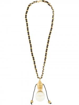 Колье 1994-го с подвеской в виде лампочки Chanel Pre-Owned. Цвет: золотистый