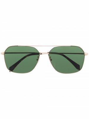 Солнцезащитные очки-авиаторы с заклепками Zadig&Voltaire. Цвет: золотистый