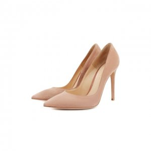 Замшевые туфли Gianvito 105 на шпильке Rossi. Цвет: розовый