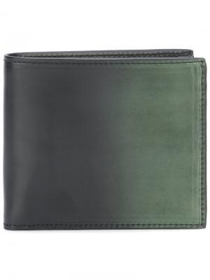 Складной бумажник Boudin Officine Creative. Цвет: зелёный