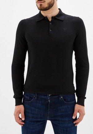Поло Trussardi Jeans. Цвет: черный