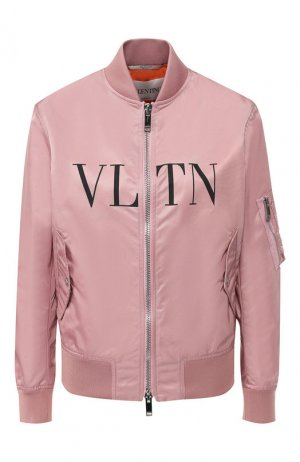 Бомбер на молнии Valentino. Цвет: розовый