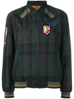 Куртка бомбер в клетку Mr & Mrs Italy