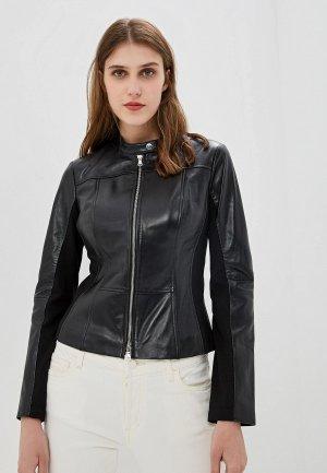 Куртка кожаная Hugo Liras. Цвет: черный