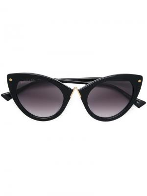 Солнцезащитные очки в оправе кошачий глаз Altuzarra. Цвет: черный
