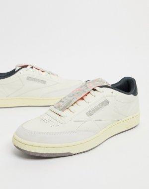 Кроссовки классического белого цвета Club C 85-Белый Reebok
