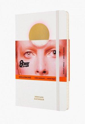 Блокнот Moleskine LIMITED EDITION DAVID BOWIE. Цвет: белый