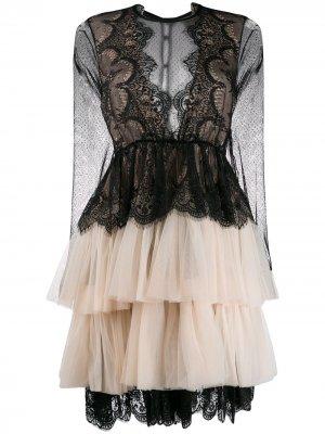 Кружевное платье с тюлем Aniye By. Цвет: черный