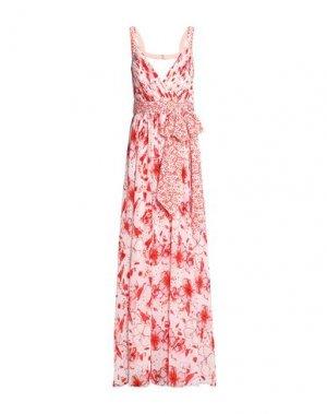 Длинное платье BADGLEY MISCHKA. Цвет: красный