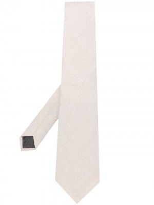 Фактурный галстук Ferre 1990-х годов Gianfranco Ferré Pre-Owned. Цвет: белый