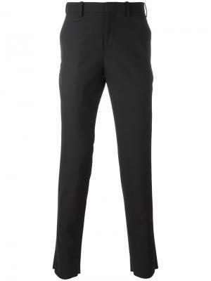 Классические брюки скинни Neil Barrett. Цвет: чёрный