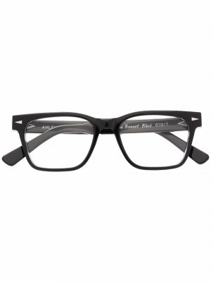 Очки в квадратной оправе Ahlem. Цвет: черный