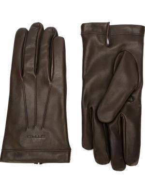 Перчатки с шерстяной подкладкой Etro. Цвет: коричневый