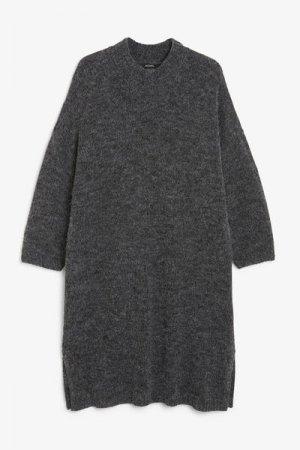 Длинное вязаное платье оверсайз Monki. Цвет: черный, разноцветный