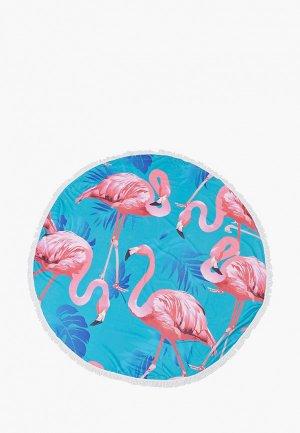 Полотенце Mon mua пляжное, диаметр 150 см. Цвет: разноцветный
