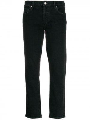 Укороченные джинсы кроя слим Citizens of Humanity. Цвет: черный